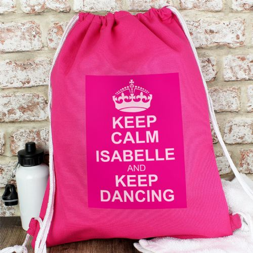 Personalised Pink Keep Calm Kit Bag